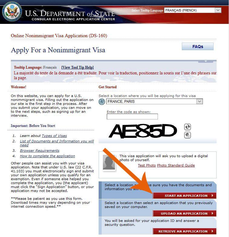 DS160-dossier-visa-J1-ambassade