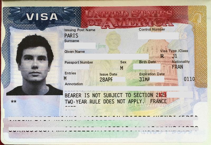 Visa J1