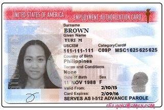 Carte EAD pour les titulaires du visa J2 aux etats-unis usa