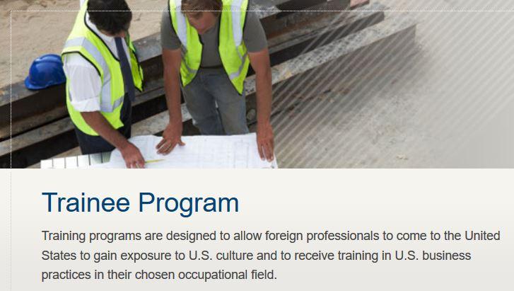 Visa J1 Trainee pour les Français qui travaillent aux Etats-unis