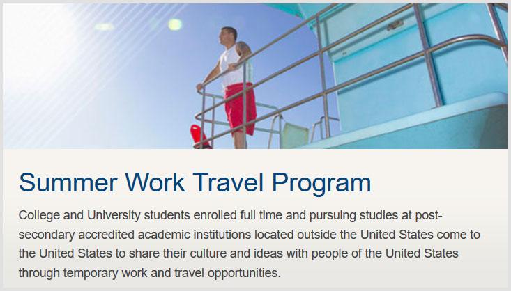 Faire un job d'été aux Etats-Unis avec un visa j1 usa