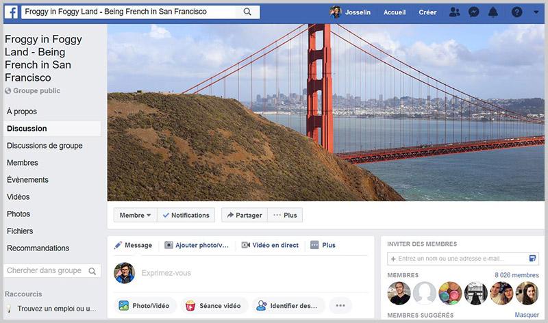 Rejoindre un groupe facebook pour trouver les french jobs aux usa