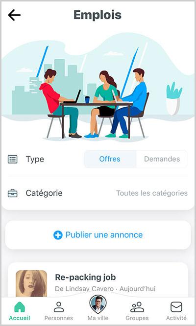home is pour trouver des offres d'emploi pour les français avec une communauté