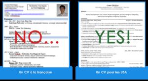 CV américain pour trouver un VIE aux USA